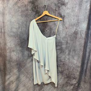 NWT Halston Heritage Blue One Shoulder Dress 8